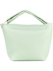 Victoria Beckham Top Handle Tote Women Leather One Size Green
