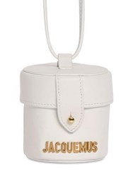 Jacquemus Le Vanity Leather Shoulder Bag White
