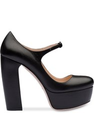 Miu Miu Platform Mary Jane Pumps Black