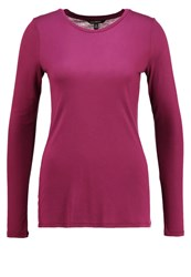 Banana Republic Long Sleeved Top Cranberry Multicoloured