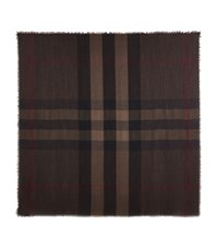 Burberry Shoes And Accessories Lightweight Check Scarf Female Brown