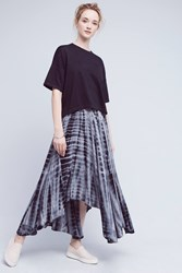 Anthropologie Bluewave Maxi Skirt Grey Motif