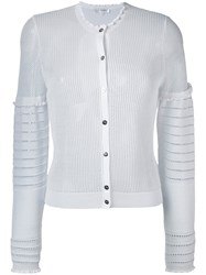 Carven Twin Set Cardigan Women Cotton Nylon S White