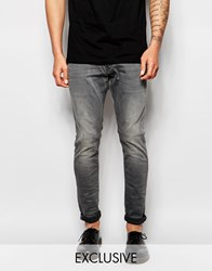 G Star G Star Beraw Exclusive To Asos Jeans 3301 A Super Slim Fit Superstretch Grey Tint Blue