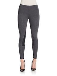 David Lerner Paneled Riding Leggings Charcoal Black