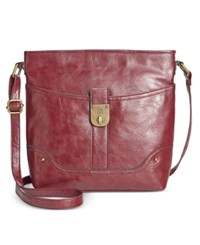 Styleandco. Style Co. Twistlock Crossbody Only At Macy's Berry Maroon