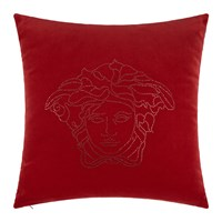 Versace Medusa Studs Cushion 50X50cm Red
