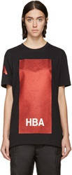 Hood By Air Black And Red Glitter Box T Shirt