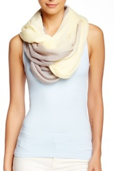 Blue Pacific Two Tone Ombre Gauze Infinity Scarf Beige