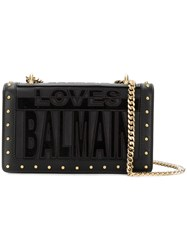 Balmain Loves Crossbody Bag Black