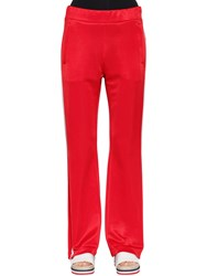 Moncler Soft Jersey Track Pants With Side Bands Red