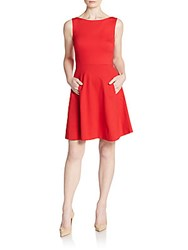 Kate Spade Back Bow A Line Dress Spicy Red