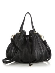 Rebecca Minkoff Military Perforated Leather Bucket Bag