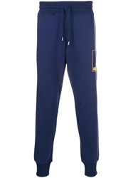Love Moschino Tapered Jogging Bottoms Blue