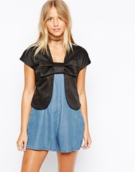 Traffic People Mini Bow Jacket Black