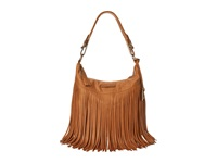 Frye Heidi Fringe Hobo Whiskey Soft Vintage Leather Hobo Handbags Tan