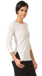 Club Monaco Nicolette Cashmere Sweater Grey And Light Grey