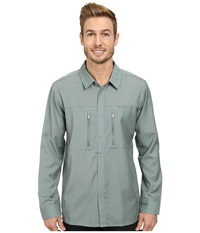Icebreaker Oreti L S Shirt Shale Men's Long Sleeve Button Up Brown
