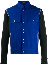 Unconditional Detachable Sleeved Jacket Blue