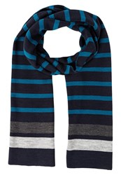 Your Turn Scarf Navy Turqoise Dark Blue