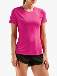 2Xu X Vent Short Sleeve Top Fuchsia