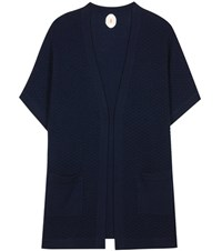 Jardin Des Orangers Wool And Cashmere Open Cardigan Blue