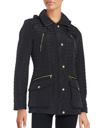 Michael Kors Sherpa Trimmed Quilted Coat Black