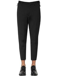Dsquared 14Cm Techno Skinny Fit Wool Cady Pants Black