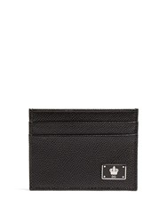 Dolce And Gabbana Grained Leather Cardholder Black Multi
