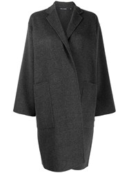 Sofie D'hoore Wrap Style Single Breasted Coat Grey