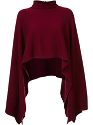 Rosetta Getty Cropped Poncho Jumper Pink And Purple