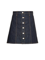 Alexa Chung For Ag The Kety Denim A Line Mini Skirt