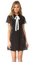 For Love And Lemons Mon Cheri Bow Dress Noir