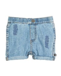 Molo Severin Vintage Denim Shorts Size 6 24 Months Blue