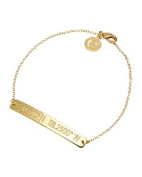 Coordinates Collection 22K Gold Plated Nile Pendant Bracelet Women's