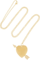 Jennifer Fisher Large Heart Gold Plated Necklace