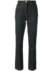 Philosophy Di Lorenzo Serafini High Waisted Jeans Cotton Polyester Blue