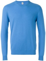 Eleventy Crew Neck Sweater Blue