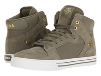 Supra Vaider Olive White Skate Shoes Green