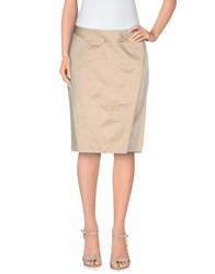 Aspesi Skirts Knee Length Skirts Women Sand
