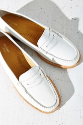 Bass Patent Wayfarer Penny Loafer White