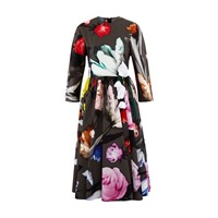 Prada Long Flowered Dress Ferro