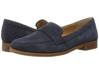 Franco Sarto Valera Navy Suede Women's Slip On Dress Shoes Blue