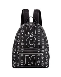 Mcm Exclusive Monogram Backpack Black