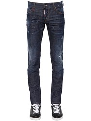Dsquared 17.5Cm Slim Jean Cotton Denim Jeans