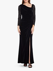 Adrianna Papell Velvet And Sequin Dress Black
