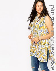 New Look Inspire Floral Print Tunic Top Multi