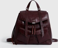 Allsaints Polly Leather Backpack Bordeaux Red