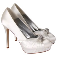 Rainbow Couture Alessia Satin Court Shoes Ivory