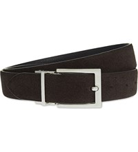 Reiss Mitchell Reversible Suede And Leather Belt Brown
